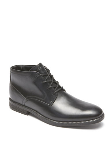 Rockport Dressports Business Leather Chukka Boots-BLACK-11D
