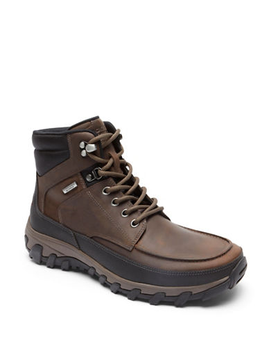 Rockport Cold Springs Moc Toe Boots-BROWN-10.5W