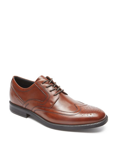 Rockport Dressports Business Leather Derbys-BROWN-13W