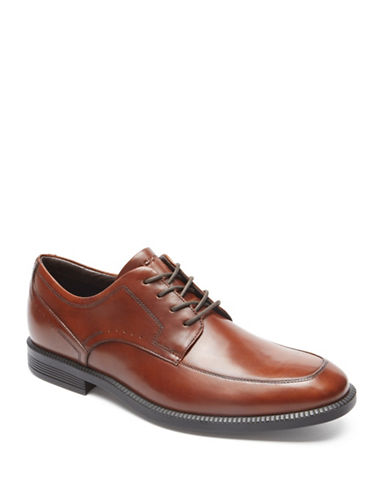 Rockport Dressports Business Leather Oxfords-BROWN-10W