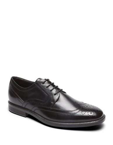 Rockport Dressports Business Leather Derbys-BLACK-8.5W