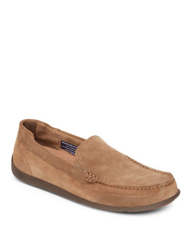 Rockport Bennett Lane Venetian Leather and Suede Loafers-ORANGE-8W