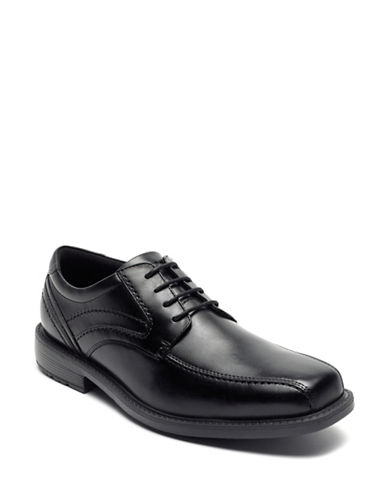 Rockport Classic Tradition Bike Toe Oxford Lace-Up Shoes-BLACK-10.5