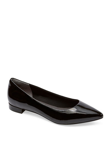 Rockport Total Motion Adelyn Patent Leather Flats-BLACK PATENT-10