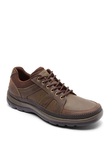 Rockport Get Your Kicks Lace-Up Bluchers-DARK BROWN-9.5D