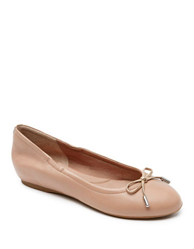 Rockport Hidden Wedge-Tied Ballet Flats-TAUPE-9