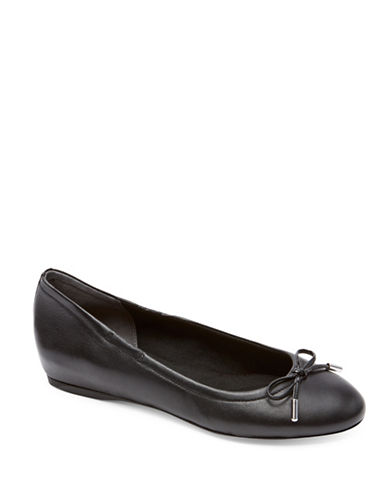 Rockport Leather Ballet Flats-BLACK-6.5