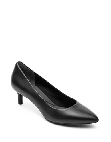 Rockport Kalila Leather Pumps-BLACK-9.5