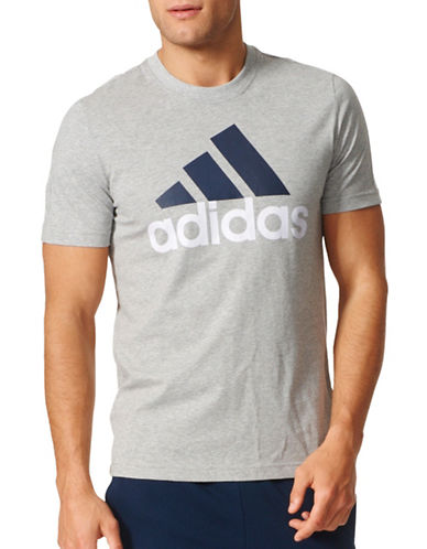 Adidas Essentials Logo T-Shirt-GREY-Large 88908190_GREY_Large