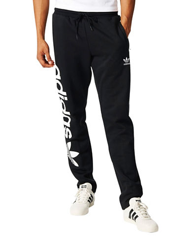 Adidas Trefoil Track Pants-BLACK-Medium 88890651_BLACK_Medium