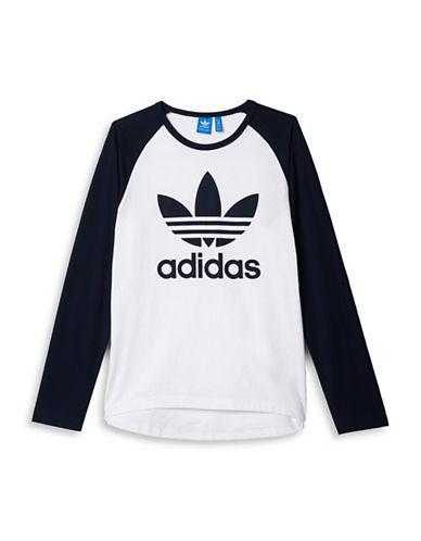 Adidas Trefoil Raglan Long Sleeve T-Shirt-BLACK-Medium 88424357_BLACK_Medium