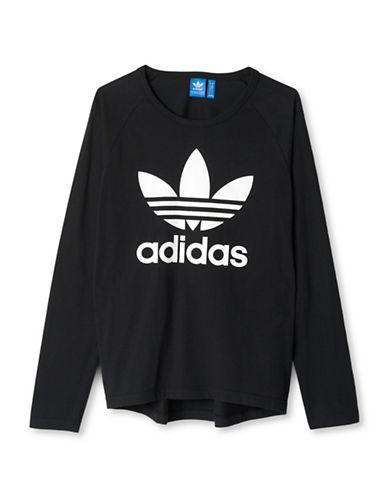 Adidas Trefoil Long-Sleeved Shirt-BLACK-Medium 88779407_BLACK_Medium