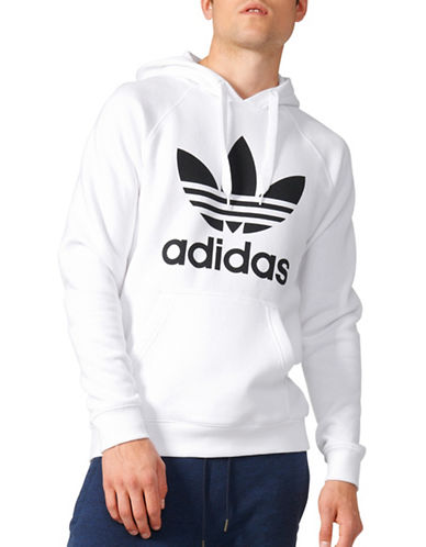 Adidas Originals Trefoil Hoodie-WHITE-X-Large 88908045_WHITE_X-Large