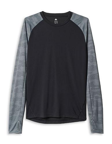 Adidas Kanoi Long Sleeve Tee-BLACK-X-Large 88208864_BLACK_X-Large
