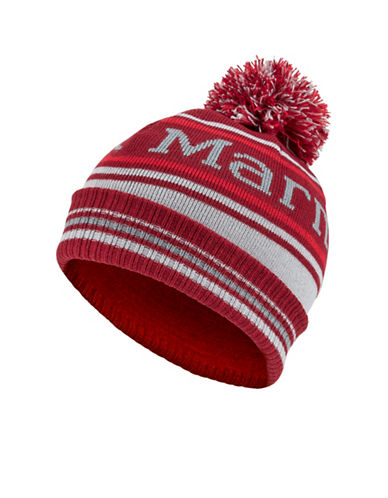 Marmot Boys Retro Pom-Pom Hat-RED-One Size