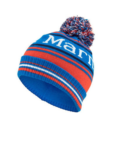 Marmot Boys Retro Pom-Pom Hat-BLUE-One Size