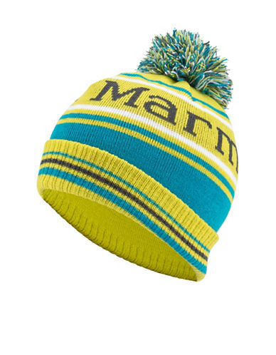 Marmot Boys Retro Pom-Pom Hat-YELLOW-One Size