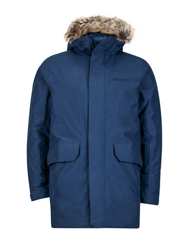 Marmot Thomas Faux Fur-Trim Jacket-BLUE-Medium