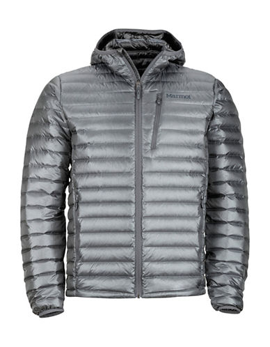 Marmot Quasar Nova Hooded Puffer Jacket-GREY-Small