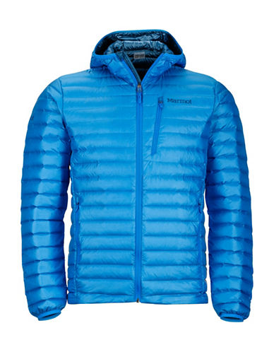 Marmot Quasar Nova Hooded Puffer Jacket-BLUE-Small