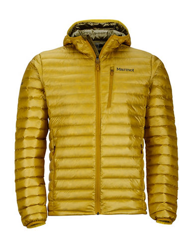 Marmot Quasar Nova Hooded Puffer Jacket-BROWN-Large 89419677_BROWN_Large