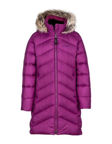 Marmot Girls Montreaux Faux Fur Trim Coat-PURPLE-X-Large