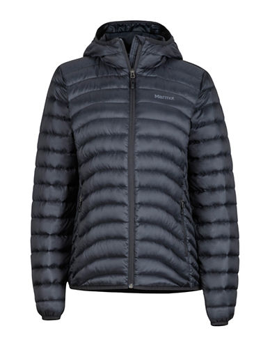 Marmot Aruna Hooded Jacket-BLACK-X-Small