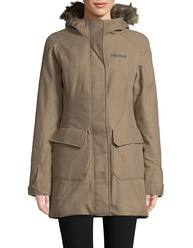 Marmot Georgina Featherless Long Jacket-BEIGE-Large