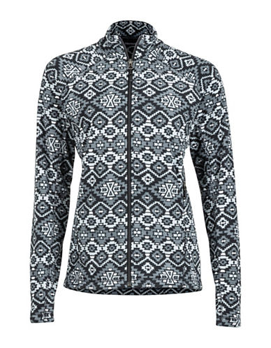 Marmot Geometric Print Fleece Jacket-BLACK-Small