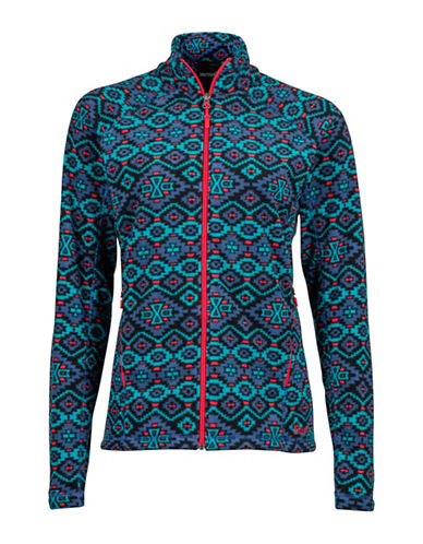 Marmot Geometric Print Fleece Jacket-BLUE-Large