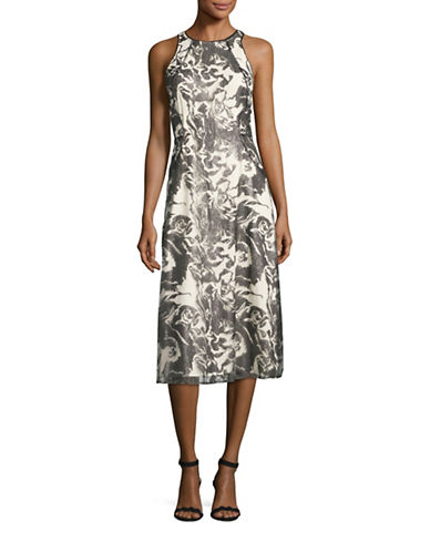 Rachel Rachel Roy Sequin Lace Midi Dress-BLACK/ALMOND-6