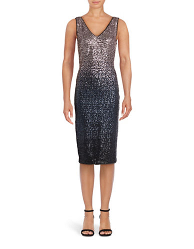 Rachel Rachel Roy Ombre Sequin Bodycon Dress-SLATE BLUE-10