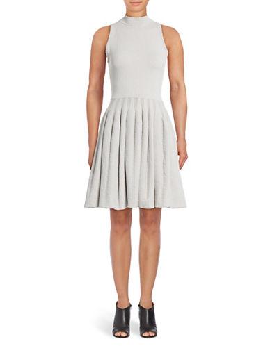 Rachel Rachel Roy Sleeveless Fit-and-Flare Sweater Dress-ALABASTER-Large