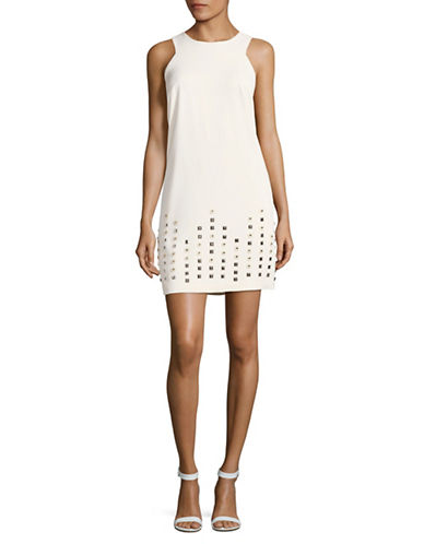 Rachel Rachel Roy Embellished Hem Shift Dress-WHITE-8