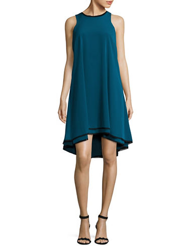 Rachel Rachel Roy Double Layer Trapeze Dress-BLUE-X-Small