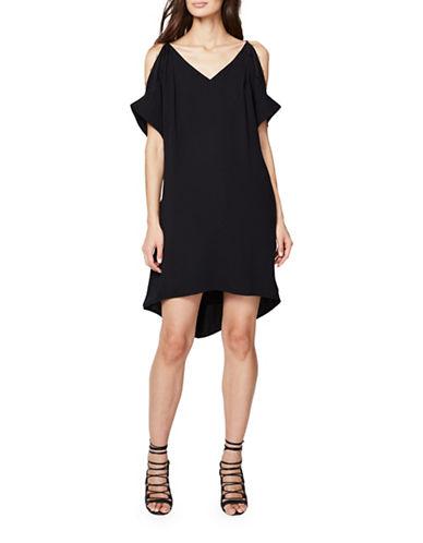 Rachel Rachel Roy Cold-Shoulder Shift Dress with Lace-BLACK-Medium