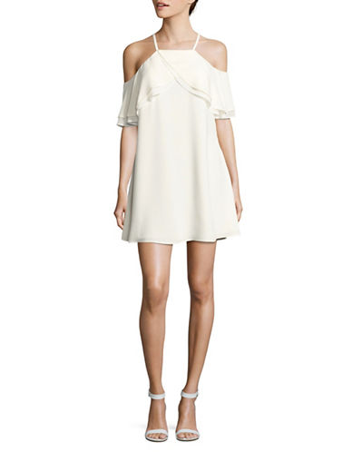 Rachel Rachel Roy Cold Shoulder Trapeze Dress-IVORY-Large