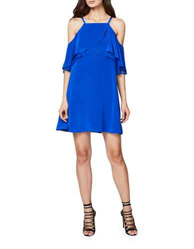 Rachel Rachel Roy Cold Shoulder Trapeze Dress-BLUE-Large
