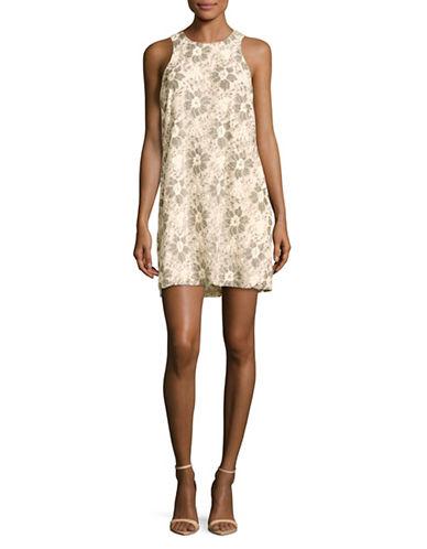 Rachel Rachel Roy Floral Lace Shift Dress-IVORY MULTI-Medium