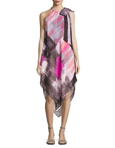 Rachel Rachel Roy Handkercheif Halter Dress-PINK MULTI-Small