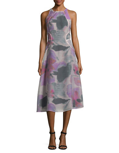 Rachel Rachel Roy Printed Midi Dress-PINK NEON-12