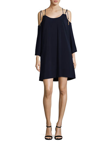 Rachel Rachel Roy Cold-Shoulder Mini Dress-NAVY-6
