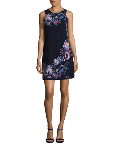 Rachel Rachel Roy Embellished Floral Sheath Dress-FLORAL-8