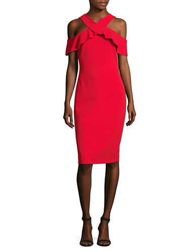 Rachel Rachel Roy Crepe Scuba Sheath Dress-PARADISE-8