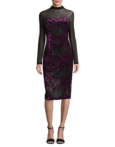 Rachel Rachel Roy Velvet Clip Dress-PURPLE-2