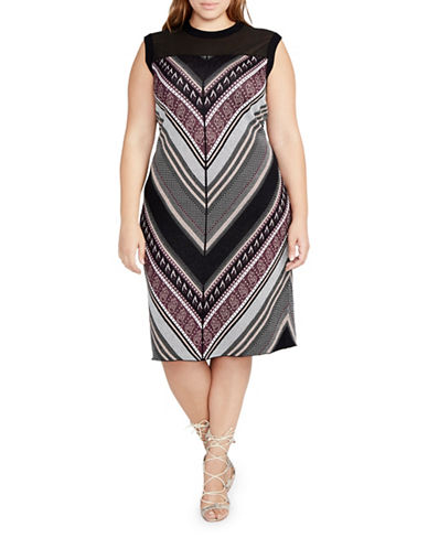 Rachel Rachel Roy Plus Printed Sheath Dress-RED-1X