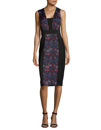 Rachel Rachel Roy Mixed Media Midi Dress-ASSORTED-14