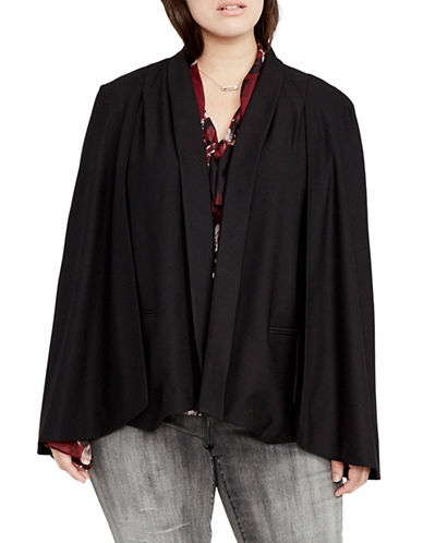 Rachel Rachel Roy Plus Tuxedo Cape-BLACK-2X