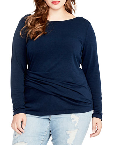 Rachel Rachel Roy Plus Plus Scoop back Top-BLUE NAVY-3X