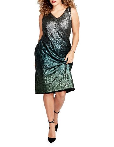 Rachel Rachel Roy Sequin Midi Dress-GREEN-8
